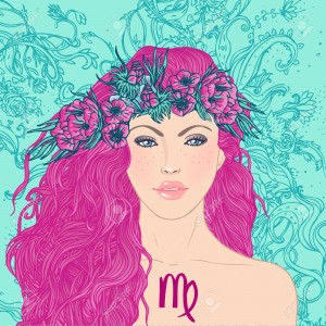 24674908-Illustration-of-virgo-astrological-sign-as-a-beautiful-girl-Vector-art--Stock-Vector
